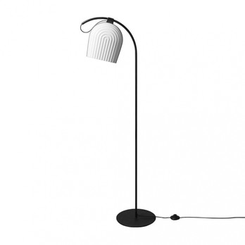 Le Klint - Le Klint Arc Stehleuchte - weiß/schwarz/Gestell schwarz/BxH 55x142cm