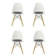 Vitra - Set promotionnel de 4 chaises Eames Plastic DSW