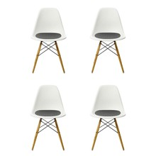 Vitra - Promotion Set  Eames Side Chair DSW Set of 4