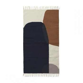 ferm LIVING - Kelim Merge Teppich klein 9283 - mehrfarbig/handgewebt/80x140cm/chemisch reinigen