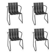 Mater - Set de 4 sillas con reposabrazos Ocean