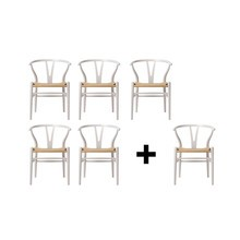 Carl Hansen - Set promo 5+1 fauteuil Chaise accourdoirs CH24 Color Line