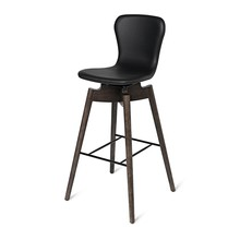 Mater - Shell Bar Stool with Leather H 87cm
