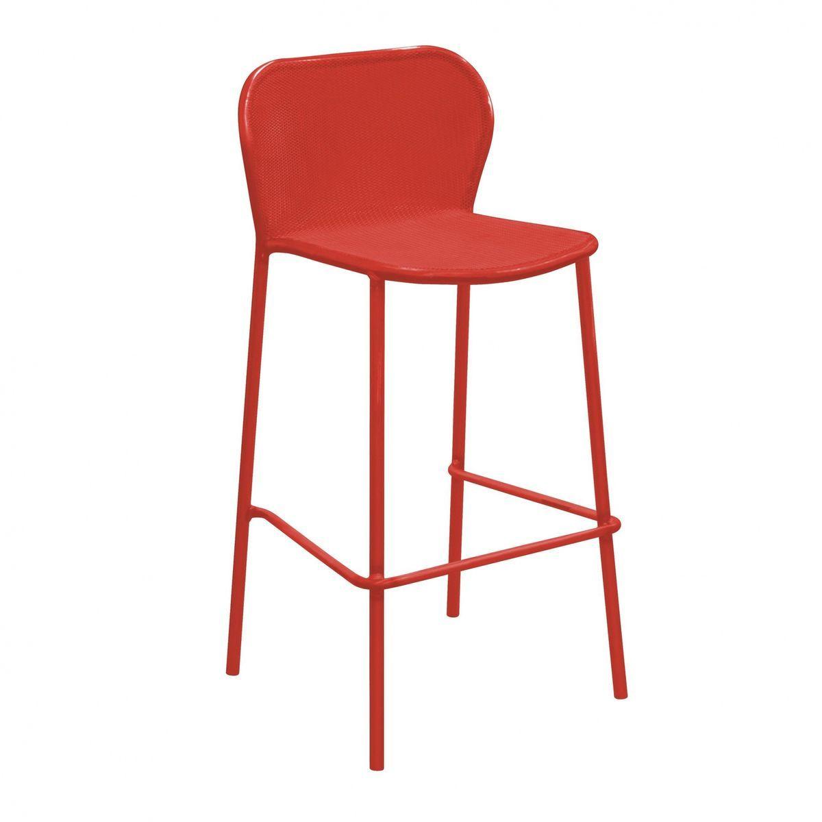 darwin outdoor bar stool cm  emu  ambientedirectcom - emu  darwin outdoor bar stool cm  scarlet red