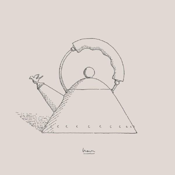 Zeichnung eines Wasserkochers