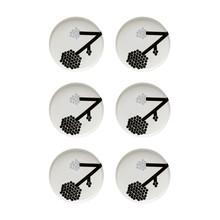 Marimekko - Oiva/Hortensie Plate Set of 6