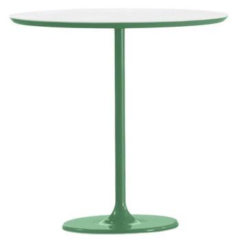 Arper - Dizzie Beistelltisch - weiß/MDF/Gestell grün lackiert/H x B x T: 50 x 51 x 47cm