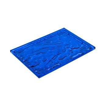 Kartell - Dune Tablett - blau/glänzend/55x38cm