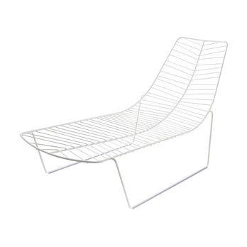 Arper - Leaf Sonnenliege - weiß/Stahl/H x L x B: 79 x 152 x 74cm