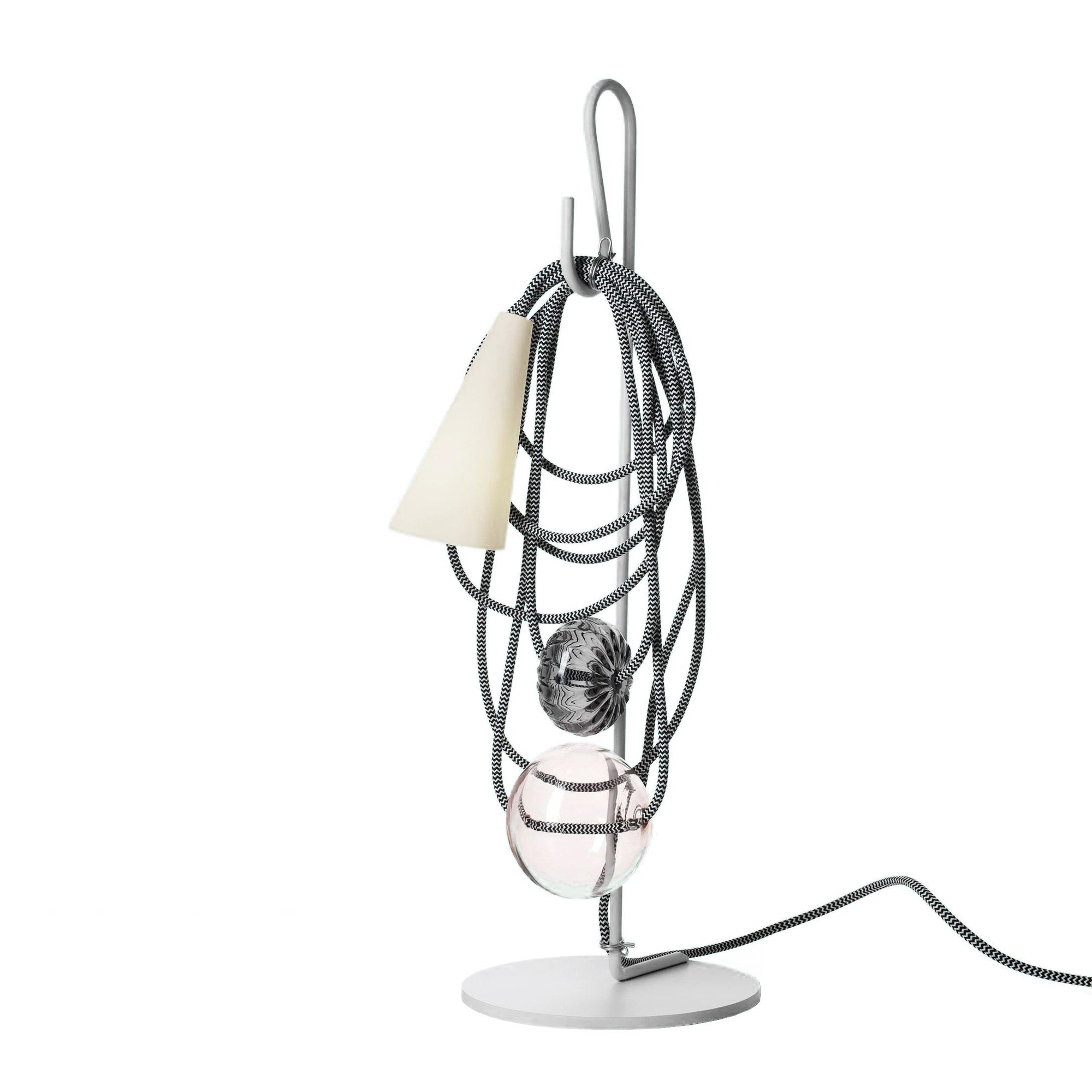 Foscarini Filo Table Lamp Ambientedirect Chandelier Wiring Black White Amethyst Queen Grey Transparent Blown Glass Frame