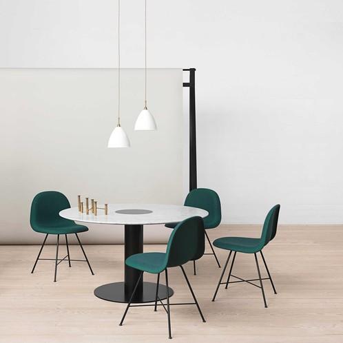 Gubi - 2.0 Dining Table Tisch Gestell schwarz Ø130cm