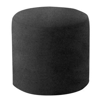 Softline - Drum Hocker / Beistelltisch M - schwarz/Stoff Felt 636/H 40cm / Ø 45cm