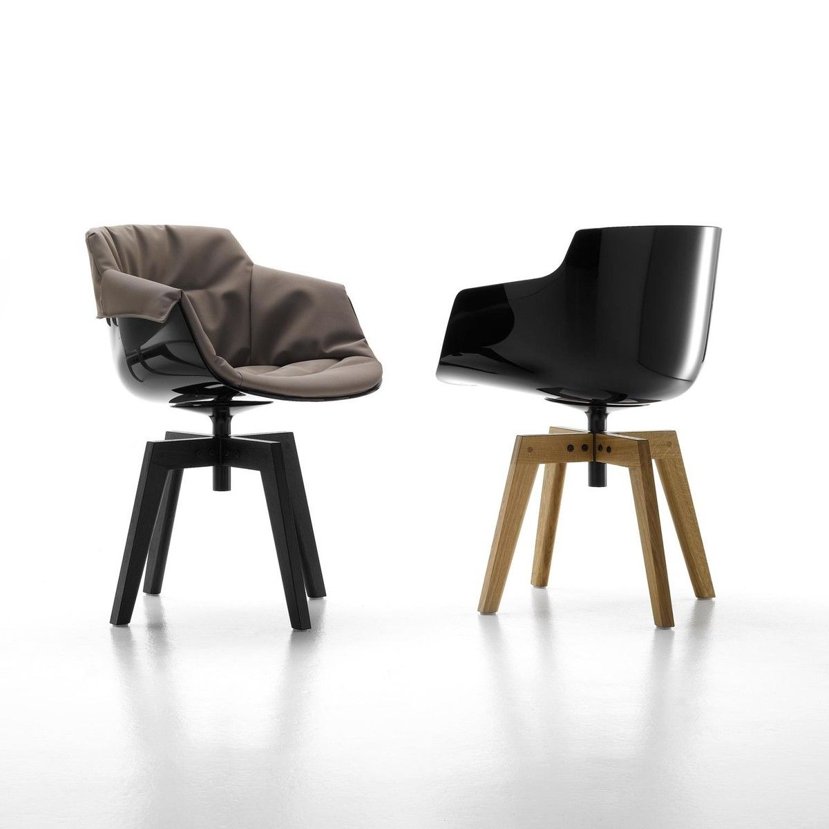 flow slim armchair with oaken legs mdf italia. Black Bedroom Furniture Sets. Home Design Ideas