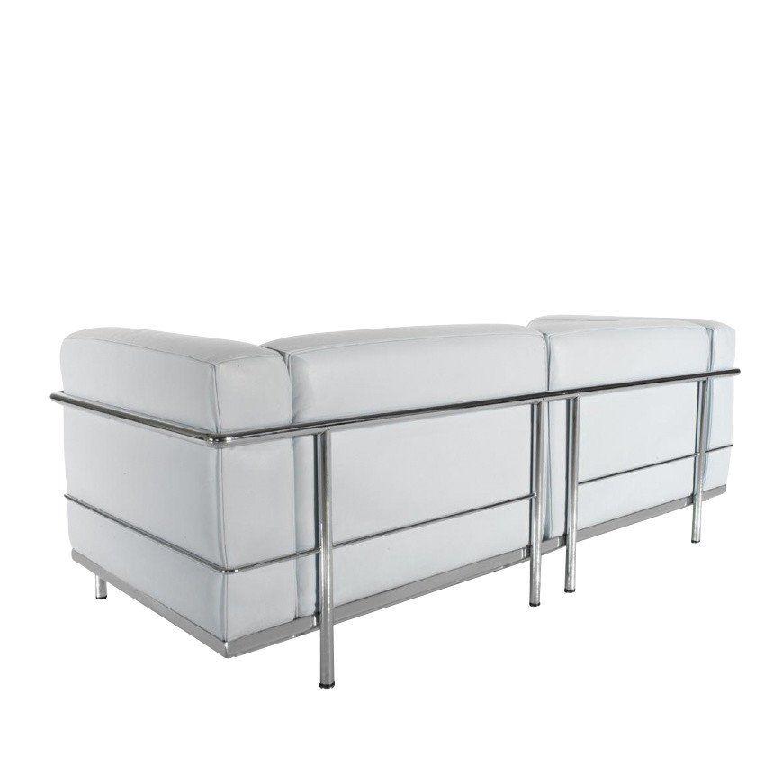 le corbusier lc3 canap deux places cassina. Black Bedroom Furniture Sets. Home Design Ideas