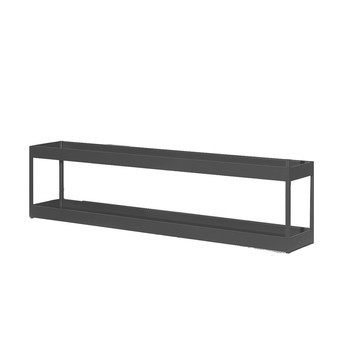 HAY - New Order Regal/Lowboard 200x50cm - charcoal dunkelgrau/lackiert