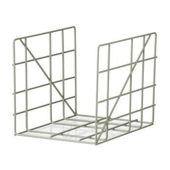 ferm LIVING - Square Zeitschriftenhalter - dusty grün/pulverbeschichtet/BxH 31x25cm