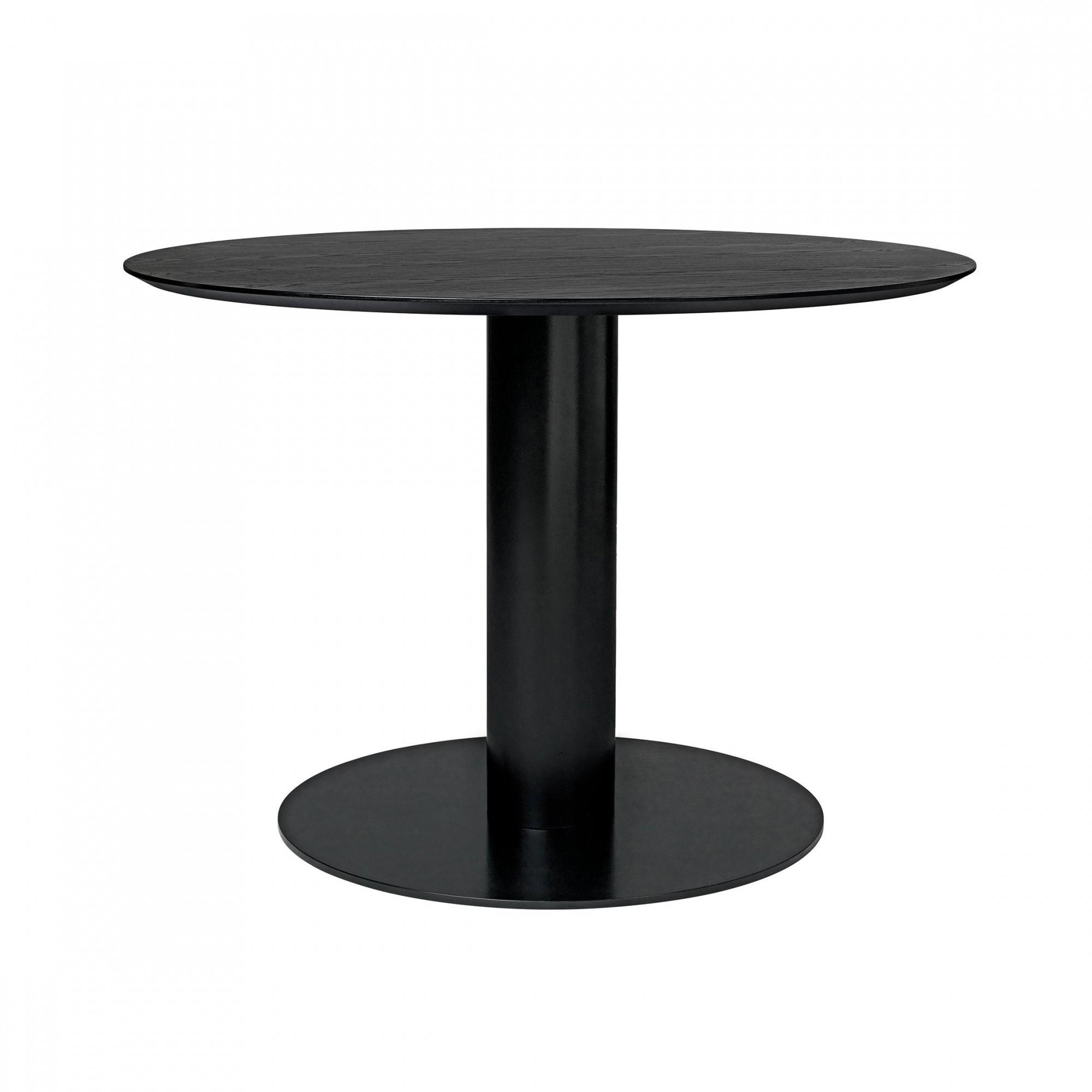 Gubi 2 0 Dining Table Frame Black O110cm Ambientedirect