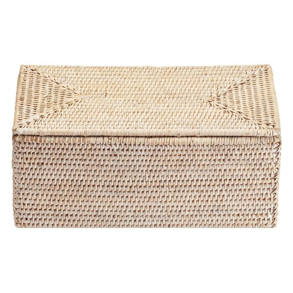 Decor Walther Basket UTBMD Rattan Box With Cover | AmbienteDirect