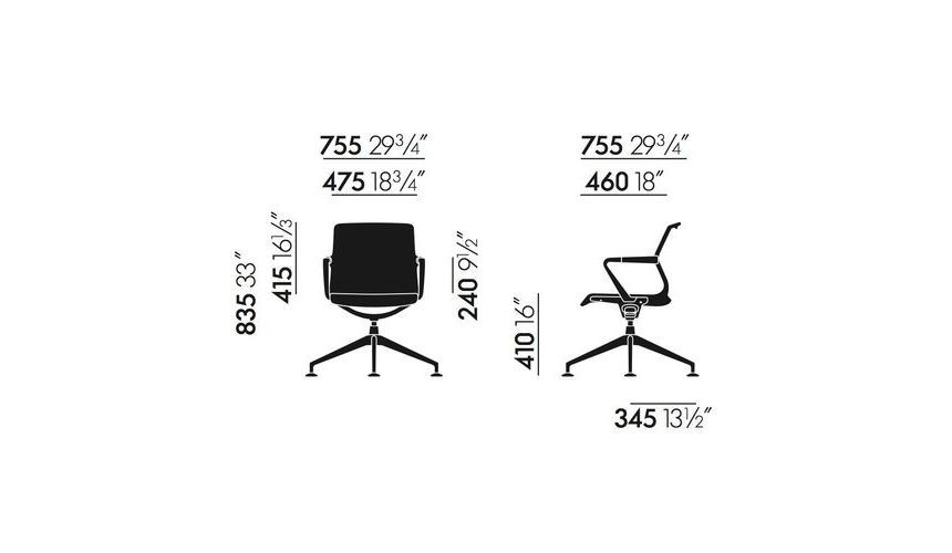 unix conference chair vitra. Black Bedroom Furniture Sets. Home Design Ideas