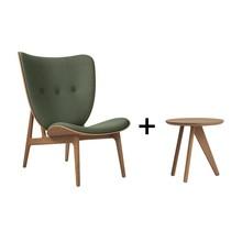 NORR 11 - Aktionsset Elephant Lounge Sessel + Fin Beistelltisch