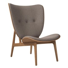NORR 11 - Elephant Lounge Sessel Gestell geräucherte Eiche