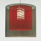 Santa + Cole - Moaré M Suspensión - grau/rot/Kunststoff/Schirme M + S/Ø46cm