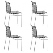 Alias - Set de 4 chaise de jardin Tagliatelle 715