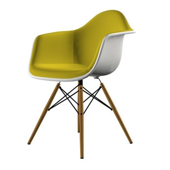Vitra Eames Plastic Armchair Daw Upholsterd Ambientedirect