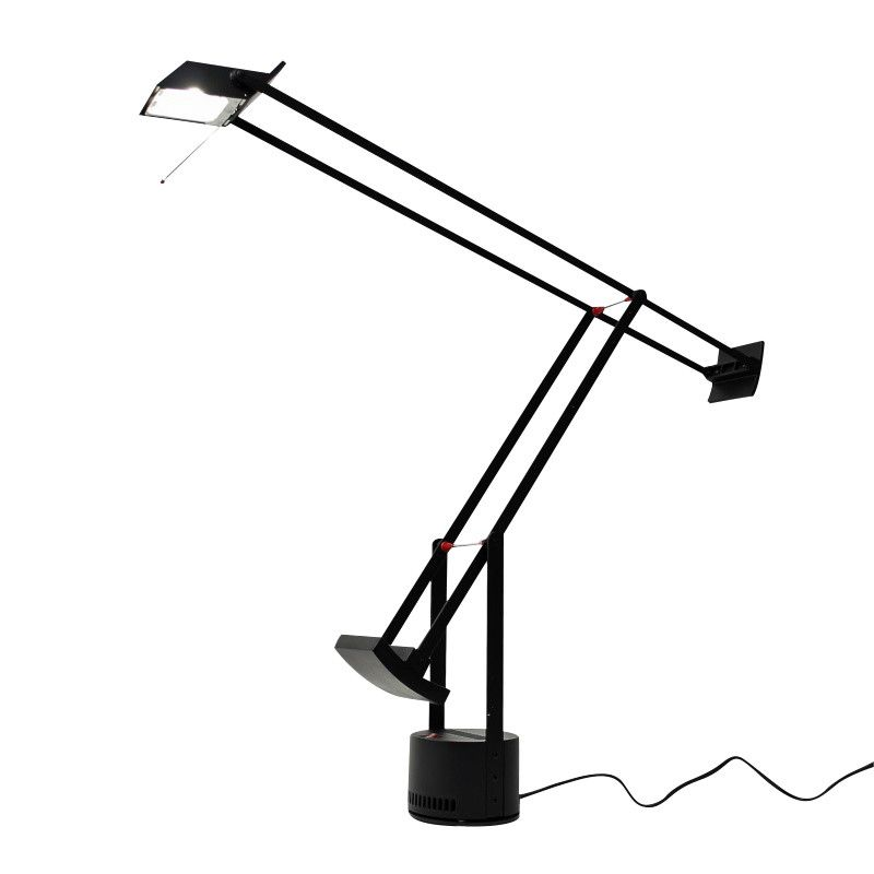 Tizio 50 Desk Lamp | Artemide | AmbienteDirect.com:Artemide - Tizio 50 Desk Lamp - black/lacquered/3000K/50Watt/WxH,Lighting