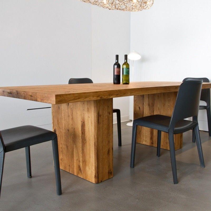 Ozelot mesa de comedor de madera maciza adwood - Mesas de comedor de madera maciza ...