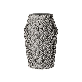 Bloomingville - Brillant Vase - grau/Ø16,5xH26 cm