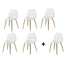 Gubi - Aktionsset '5+1' Gubi 3D Stuhl