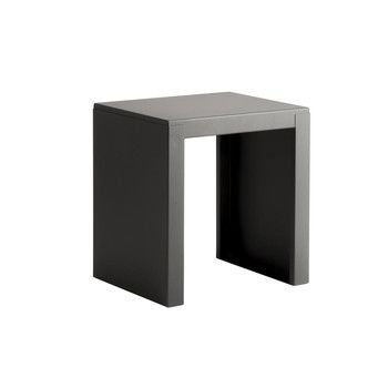 Zeus - Big Irony Outdoor Hocker  - grau gunmetal/L x B x H: 44 x 36 x 47cm