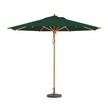 Weishäupl - Klassiker Sonnenschirm rund - dunkelgrün/Gestell Holz/Dolan/Ø 300 cm