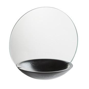 Woud - Pocket Spiegel Ø32cm - schwarz/lackiert