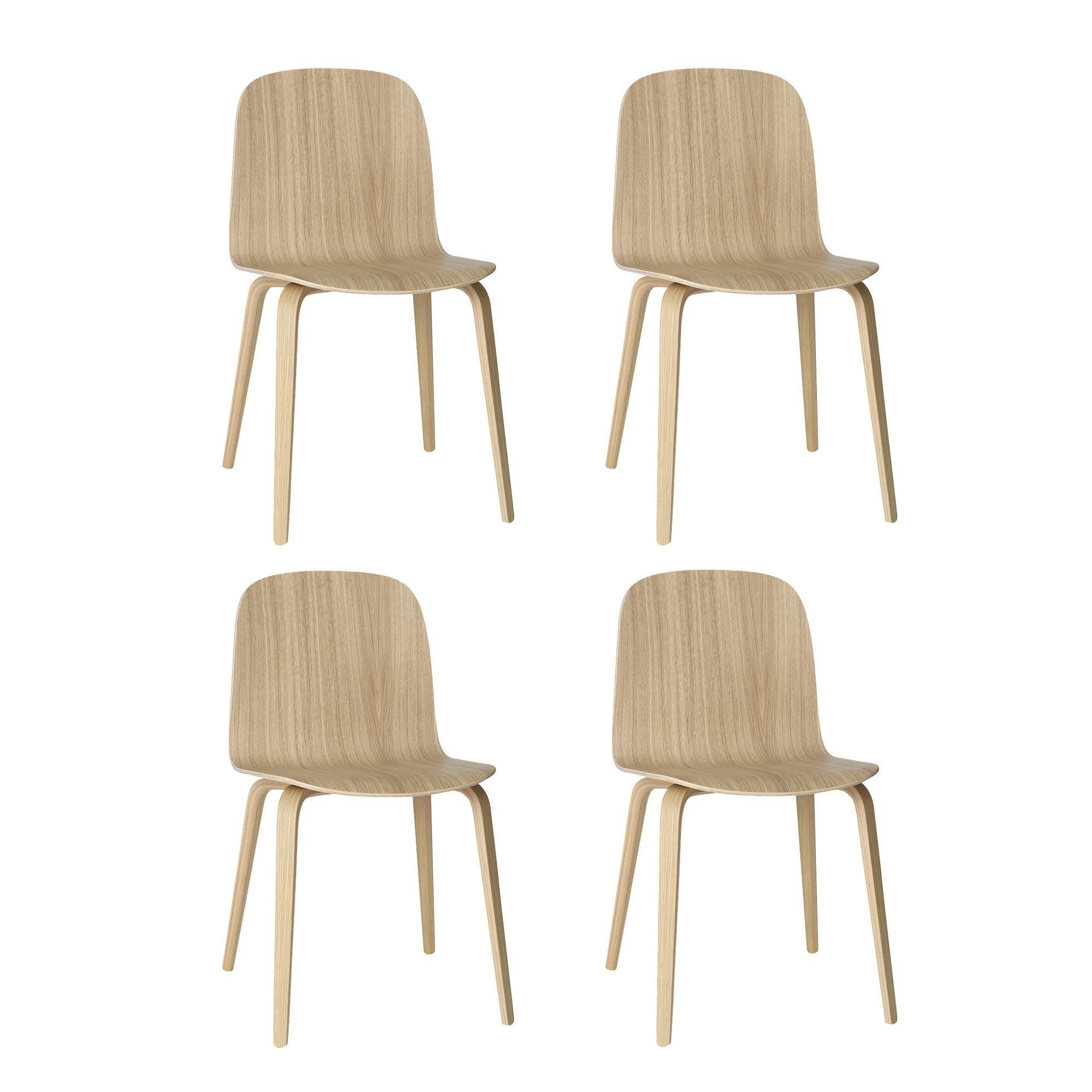 Visu Set bois structure chaises 4 de en OuTZPkXiw