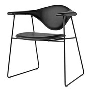 Gubi - Chaise Masculo Dining Chair cuir