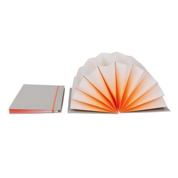 HAY - Plissé Dokumentenmappe - hellgrau/neon orange/DIN A4/35x23cm