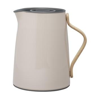 Stelton - Emma Tee-Isolierkanne 1,0L - nude/buche/glänzend/mit Smart-Filtersystem