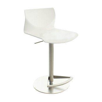 la palma - Kai Barhocker höhenverstellbar - weiß/Holz/Sitzfläche lackiert/höhenverstellbar von 54 bis 79 cm