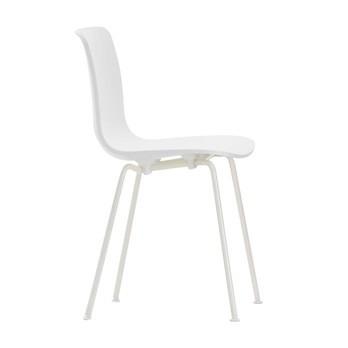 Vitra - Hal Tube White Outdoor Stuhl - weiß/Gestell elfenbein/nicht stapelbar/Gleiter weiß