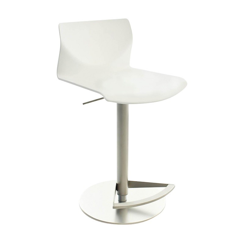 La Palma   Kai Bar Stool Adjustable   White/wood/seating ...