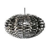 Normann - Norm 03 Steel Suspension Lamp  - stainless steel/ 53x32cm/glossy