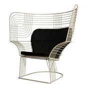 Tom Dixon - Link Easy Chair - white/steel/powder coated