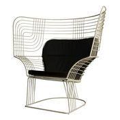 Tom Dixon - Link Easy Chair - weiß/Stahl/pulverbeschichtet