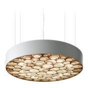 - Spiro SG LED Pendelleuchte - weiß/buche/matt/3000K/1417lm/CRI90/Dimmung über DIM 0-10V