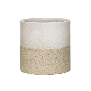 Bloomingville - Barbara Pflanzenbehälter - weiß/Ø14xH14 cm
