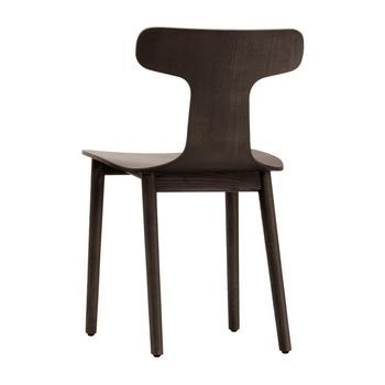 Cappellini - Bac One Stuhl - esche wengefarben gebeizt/Holz/45x75x48cm