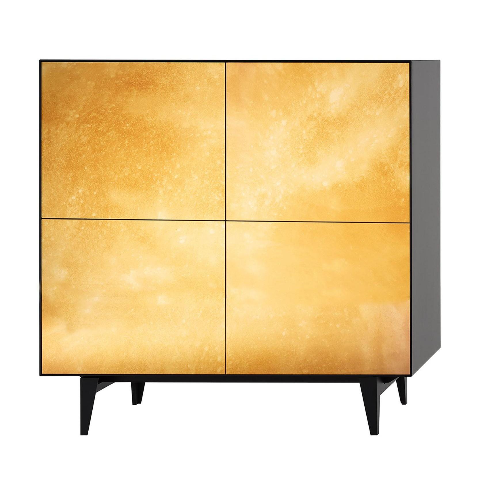 Piure Nex Glamour Gold Sideboard 110 5x48x109 3cm Ambientedirect