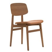 NORR 11 - Chaise NY11 cuir structure chêne fumé